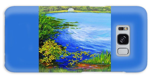 Summer At The Lake Galaxy Case by Anne Marie Brown