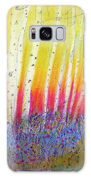 Summer Birch  Galaxy Case by Linde Townsend