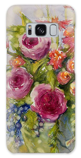 Summer Bouquet Galaxy Case by Judith Levins
