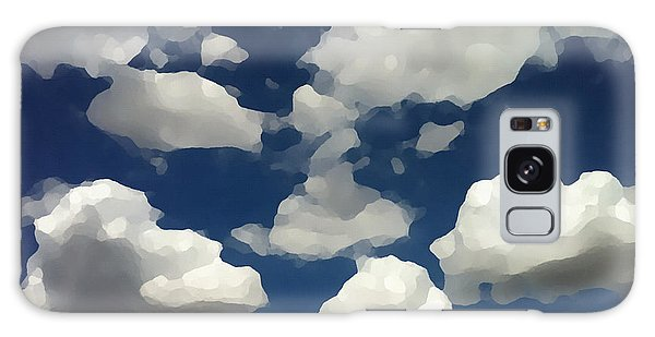 Galaxy Case featuring the digital art Summer Clouds In A Blue Sky by Shelli Fitzpatrick