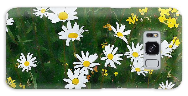 Galaxy Case featuring the digital art Summer Daisies by Julian Perry