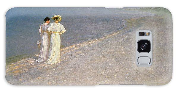 Crt Galaxy Case - Summer Evening On The Skagen Southern Beach With Anna Ancher And Marie Kroyer by Peder Severin Kroyer