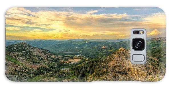 Summer Evening View From Sunset Peak Galaxy Case