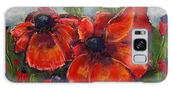 Summer Field Of Poppies Galaxy Case