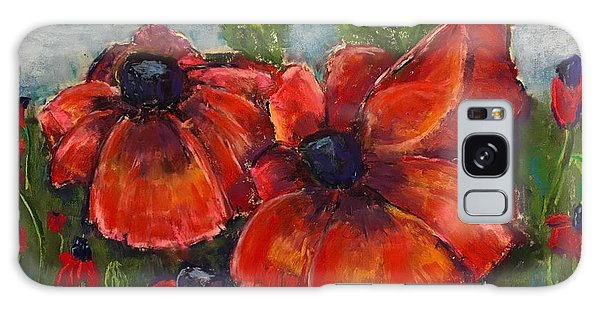 Summer Field Of Poppies Galaxy Case