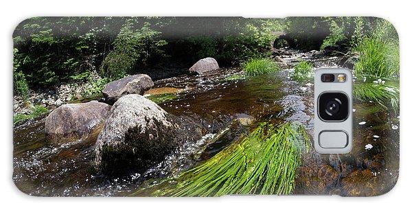 Summer Flow Of Water Near Rangeley Maine  -63322 Galaxy Case