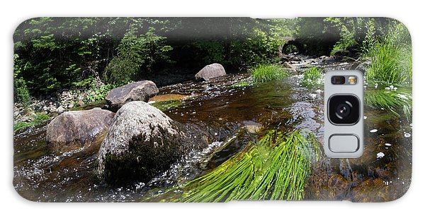 Summer Flow Of Water Near Rangeley Maine  -63322 Galaxy Case