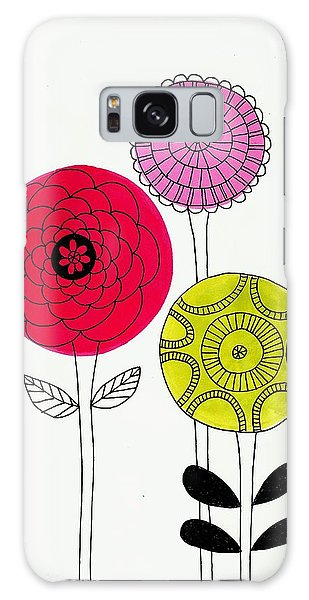 Summer Flowers Galaxy Case by Lisa Noneman