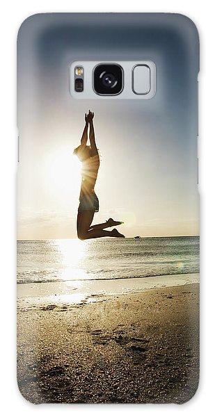 Summer Girl Summer Jump  Galaxy Case by Amyn Nasser
