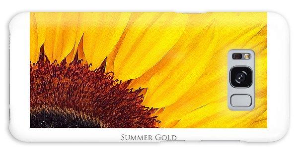 Summer Gold Galaxy Case