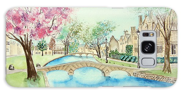 Galaxy Case featuring the painting Summer In Bourton by Elizabeth Lock