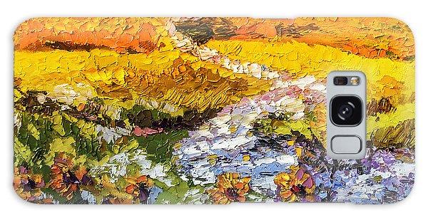 Summer Landscape Sunflowers Provence Galaxy Case