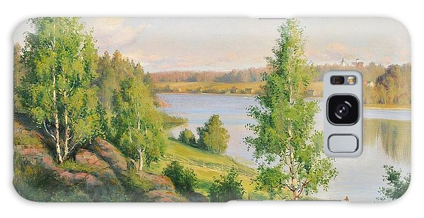Summer Landscape With Rowing Boats Galaxy Case