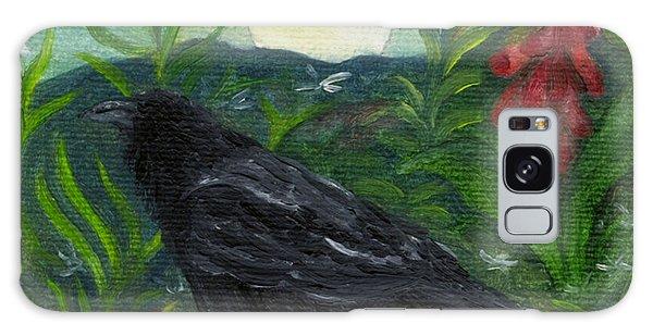 Summer Moon Raven Galaxy Case