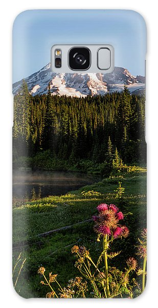 Summer Morning At Mt Rainier Galaxy Case