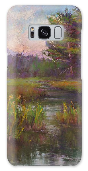Summer Morning Beaver Marsh Galaxy Case by Susan Williamson