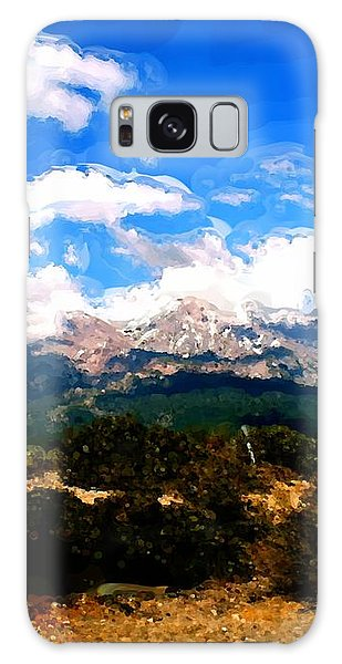 Summer On Mt. Shasta Galaxy Case by Methune Hively