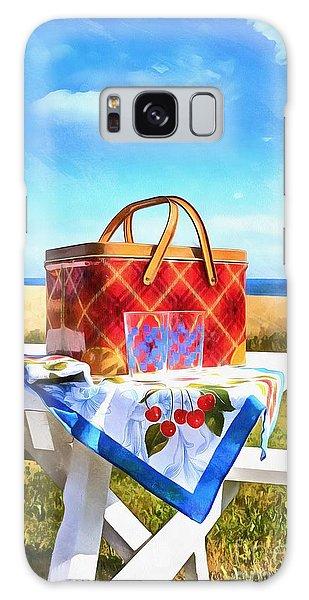 Picnic Table Galaxy Case - Summer Picnic Acrylic by Edward Fielding