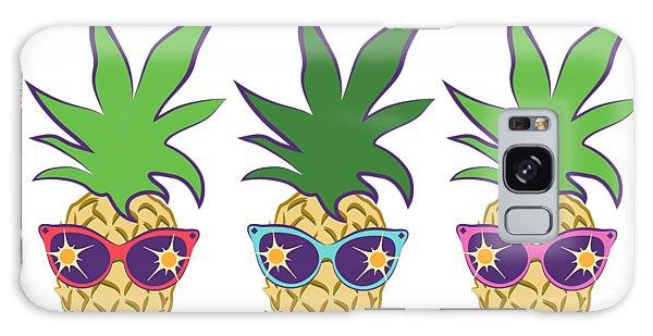 Summer Pineapples Wearing Retro Sunglasses Galaxy Case