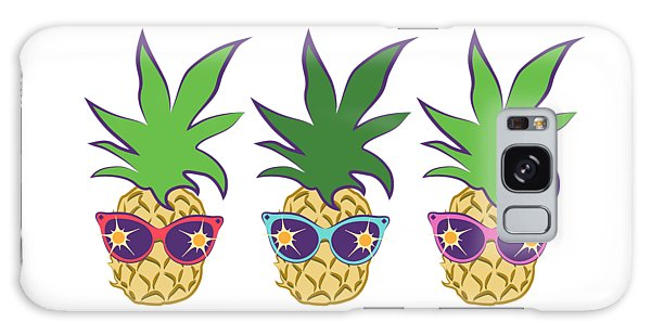 Summer Pineapples Wearing Retro Sunglasses Galaxy Case