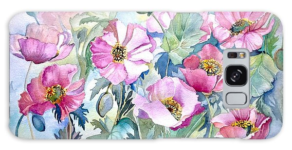 Summer Poppies Galaxy Case