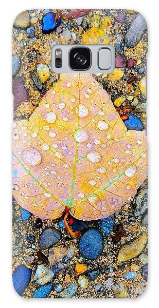 Summer Rain Leaf Galaxy Case by Todd Breitling