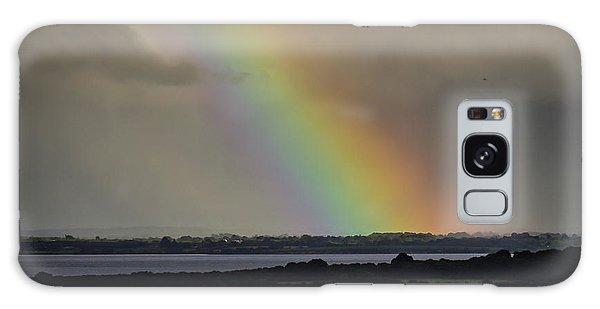 Galaxy Case featuring the photograph Summer Rainbow Over Shannon Estuary by James Truett