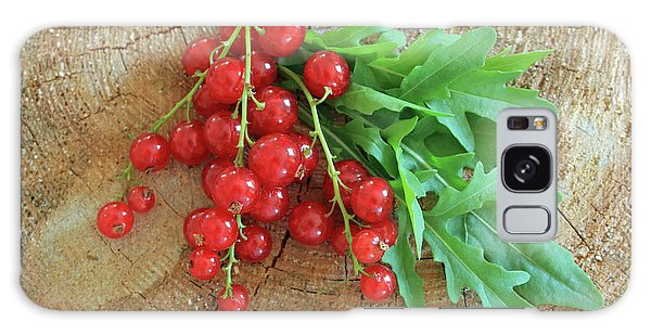 Summer, Red Berries And Rucola On Wooden Board Galaxy Case