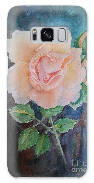 Summer Rose - Painting Galaxy Case by Veronica Rickard