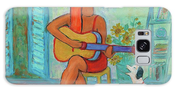 Galaxy Case featuring the painting Summer Serenade II by Xueling Zou