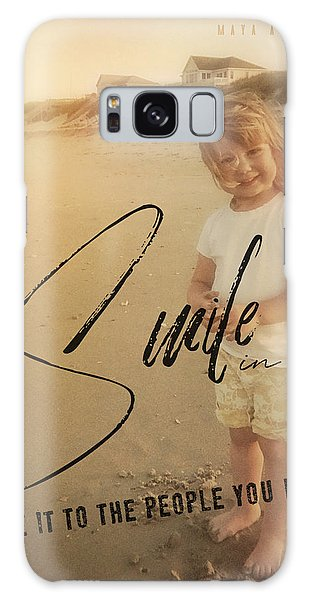 Summer Smile Quote Galaxy Case