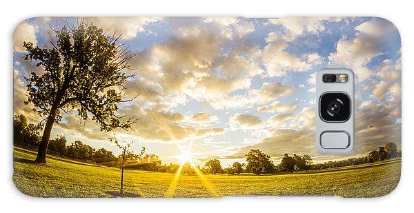 Summer Sunrise Across Delware Park Meadow Galaxy Case