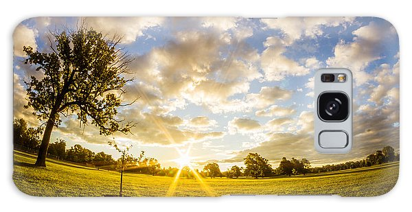 Summer Sunrise Across Delware Park Meadow Galaxy Case