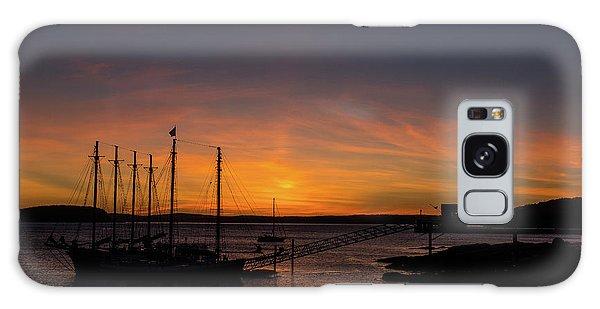 Summer Sunrise In Bar Harbor Galaxy Case