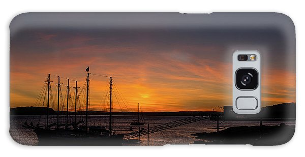 Summer Sunrise In Bar Harbor Galaxy Case