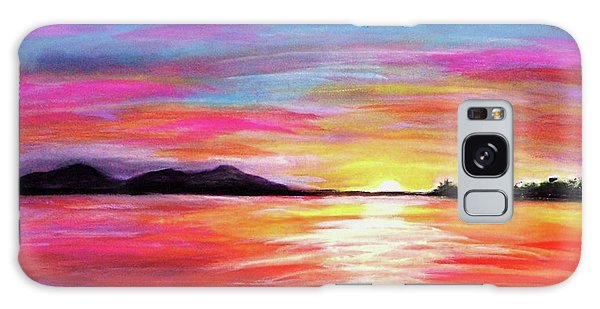 Galaxy Case featuring the painting Summer Sunrise by Sonya Nancy Capling-Bacle