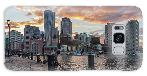 Summer Sunset At Boston's Fan Pier Galaxy Case