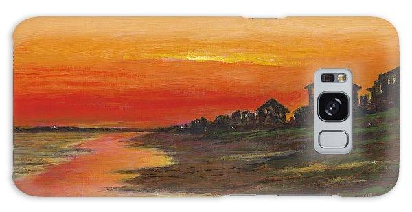 Summer Sunset At  Crystal Beach Galaxy Case