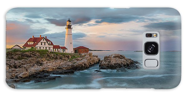 Summer Sunset At Portland Head Light Galaxy Case