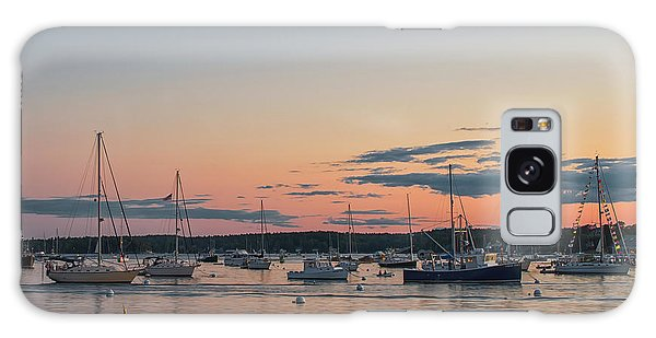 Summer Sunset In Boothbay Harbor Galaxy Case
