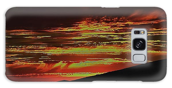 Summer Sunset Rain Galaxy Case