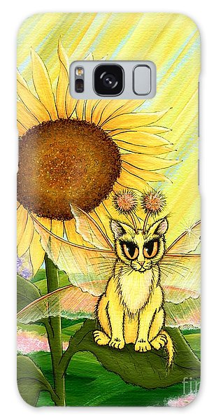 Summer Sunshine Fairy Cat Galaxy Case by Carrie Hawks