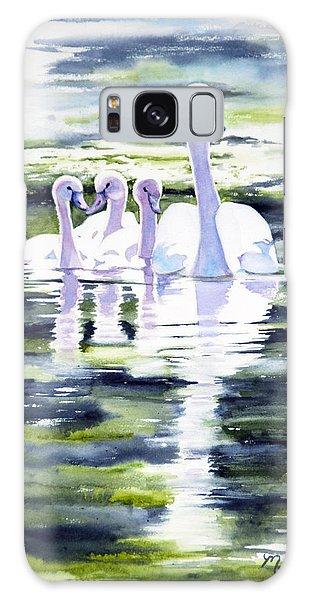 Summer Swans Galaxy Case