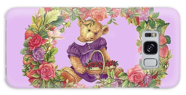 Summer Teddy Bear With Roses Galaxy Case
