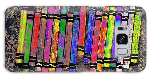 Summer's Crayon Love Galaxy Case by Iowan Stone-Flowers