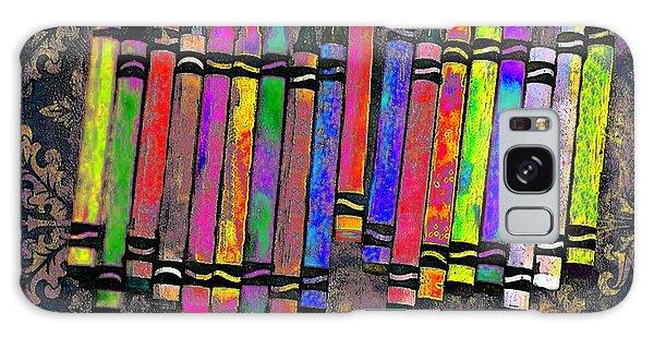 Summer's Crayon Love Galaxy Case by Iowan Stone-Flowers