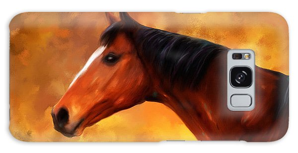 Summers End Quarter Horse Painting Galaxy Case