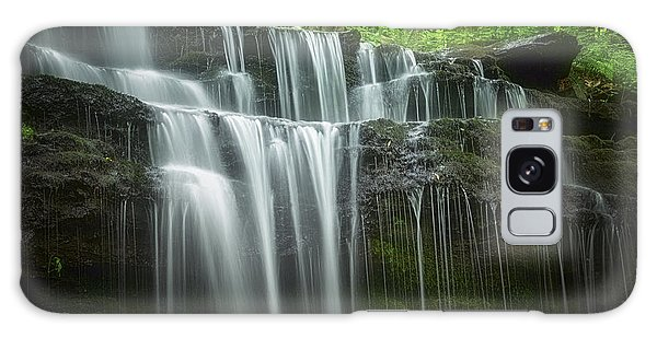 Rights Managed Images Galaxy Case - Summertime At Gunn Brook Falls by Mary Lou Chmura