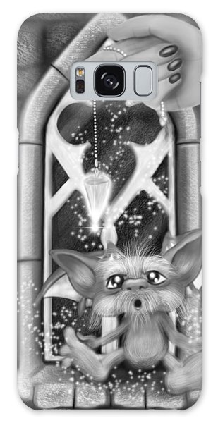 Summoned Pet - Black And White Fantasy Art Galaxy Case