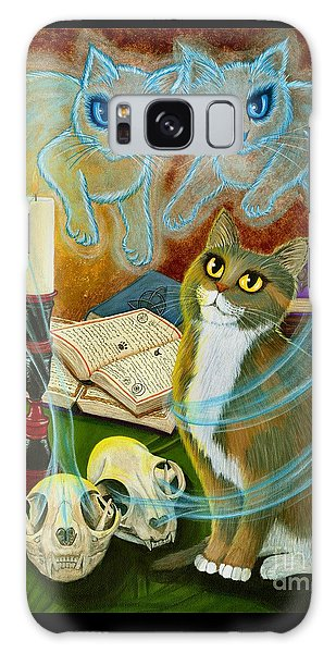 Summoning Old Friends - Ghost Cats Magic Galaxy Case
